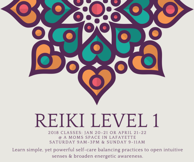 Reiki 1 2018 classes